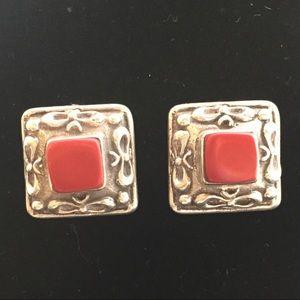 Jewelry - Sterling Silver & Carnelian Earrings - Pierced